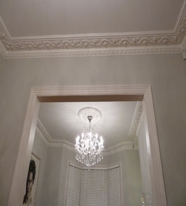Large floral egg and dart enriched victorian cornice. Crescent Lane, Clapham, SW4